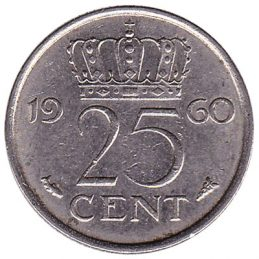 25 cent coin (Juliana)