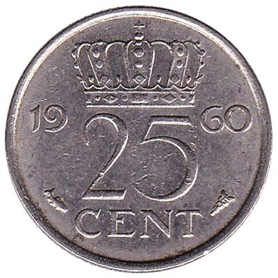 25 cent coin (Juliana)
