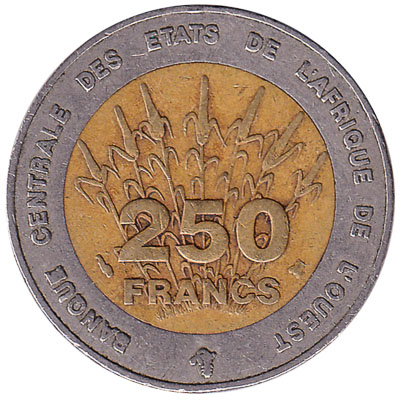 250 FCFA coin West Africa