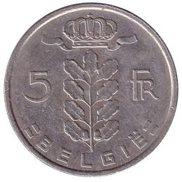 5 Belgian Francs coin (Ceres)