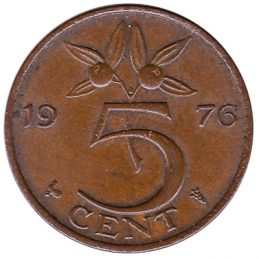 5 cent coin (Juliana)