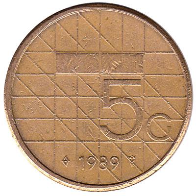 5 gulden coin (Beatrix)