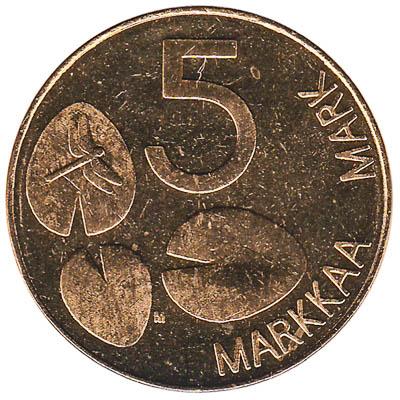 5 markkaa coin Finland (ringed seal)