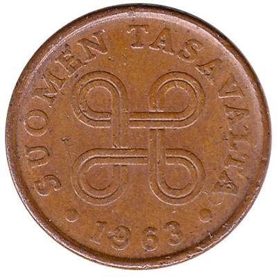 5 pennia coin Finland (copper)