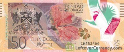50 Trinidad and Tobago Dollars banknote (polymer 2015 series)