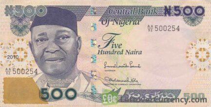 500 Nigerian Naira banknote (Nnamdi Azikiwe)