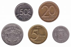 Belgian Franc coins