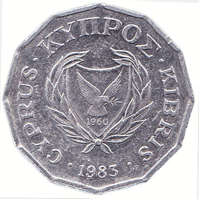 1/2 cent coin Cyprus