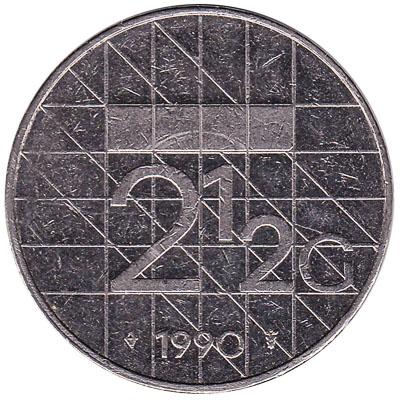 2 1/2 gulden coin (Beatrix)