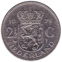 2 1/2 gulden coin (Juliana)