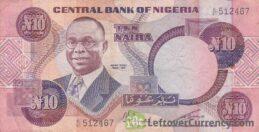 10 Nigerian Naira paper banknote (Alvan Ikoku type 1979)