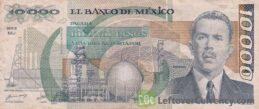 10000 old Mexican Pesos banknote (Lázaro Cárdenas)