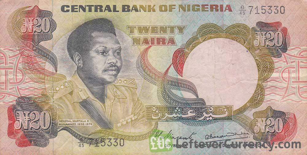 20 Nigerian Naira paper banknote (General Murtala Muhammed type 1977)