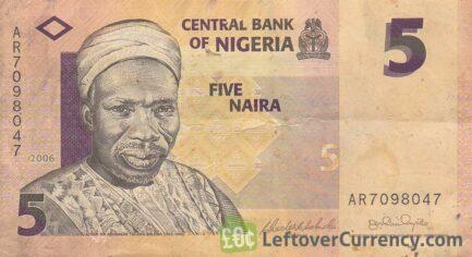 5 Nigerian Naira paper banknote (Tafawa Balewa)