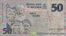 50 Nigerian Naira paper banknote (People of Nigeria)