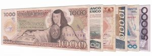 Obsolete old Mexican Peso banknotes