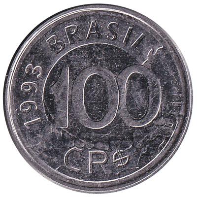 100 Cruzeiros Reais coin Brazil