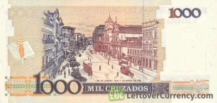 1000 Brazilian Cruzados banknote (Machado de Assis)