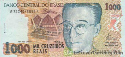 1,000 Brazilian Cruzeiros Reais banknote (Anísio Teixeira)