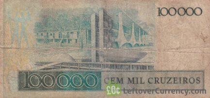 100,000 Brazilian Cruzeiros banknote (Juscelino Kubitschek)