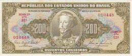 200 Brazilian Cruzeiros banknote (Dom Pedro I green type)