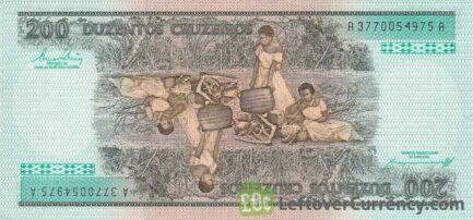 200 Brazilian Cruzeiros banknote (Princesa Isabel)