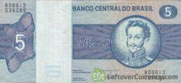 5 Brazilian Cruzeiros banknote (Dom Pedro I) obverse
