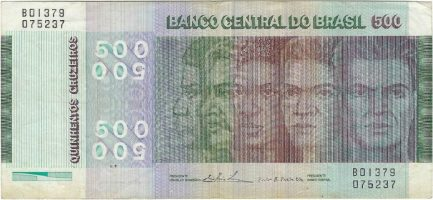 500 Brazilian Cruzeiros banknote (150th Anniversary of Independence)