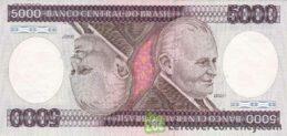 5,000 Brazilian Cruzeiros banknote (Castelo Branco)
