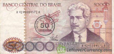 50,000 Brazilian Cruzeiros banknote (Oswaldo Cruz)