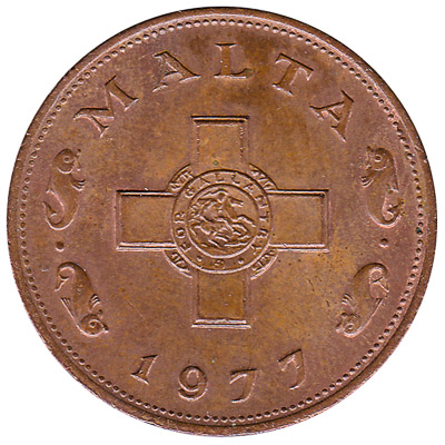 1 cent coin Malta (large type)