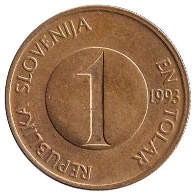 1 Slovenian Tolar coin