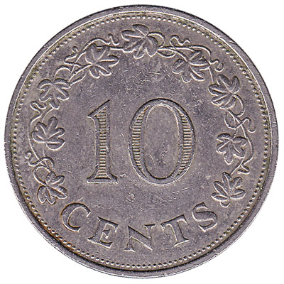 10 cents coin Malta (large type)