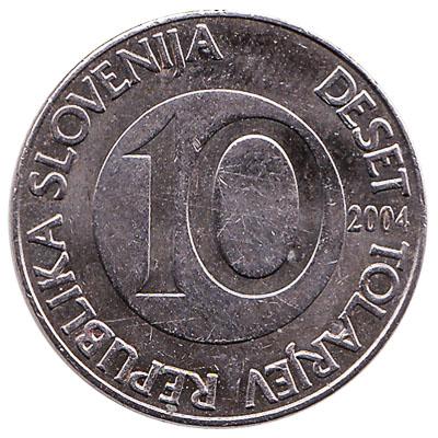 10 Slovenian Tolars coin