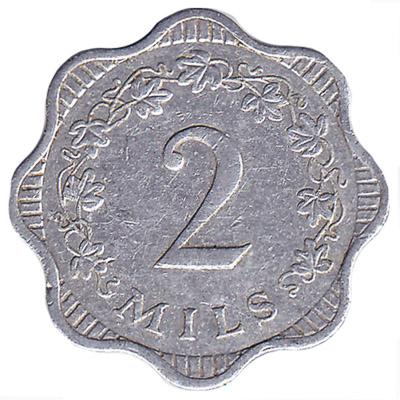 2 mils coin Malta