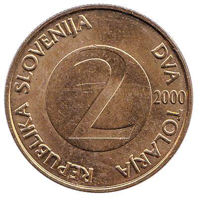 2 Slovenian Tolars coin