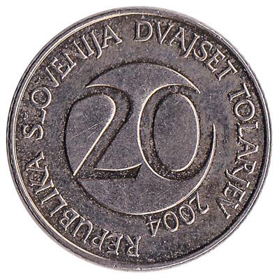 20 Slovenian Tolars coin