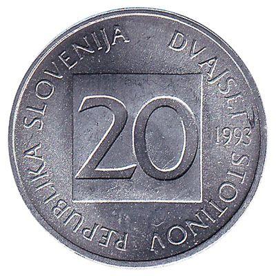 20 Stotinov coin Slovenia
