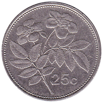 25 cents coin Malta