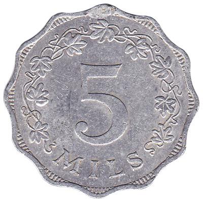 5 mils coin Malta