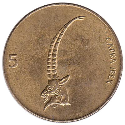 5 Slovenian Tolars coin