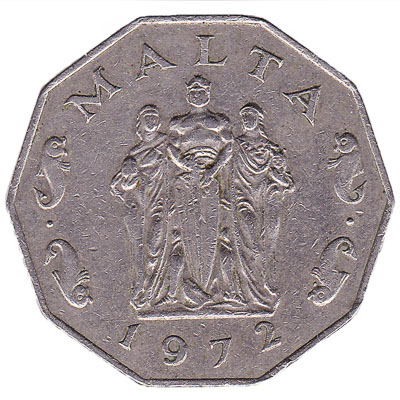 50 cents coin Malta (large type)