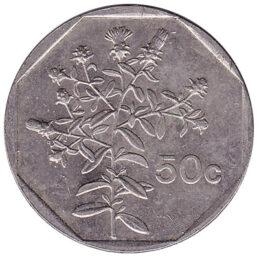 50 cents coin Malta