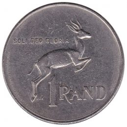 1 rand coin South Africa (large type)