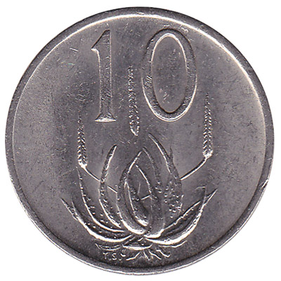 10 cents coin South Africa (large type)