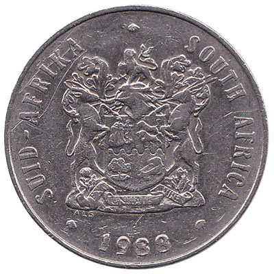 20 cents coin South Africa (large type)