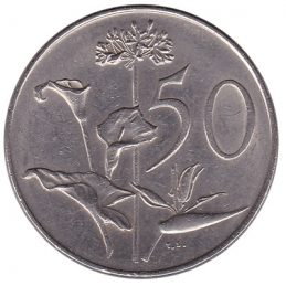 50 cents coin South Africa (large type)