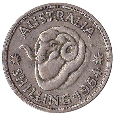 Australian shilling coin