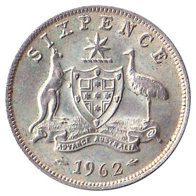 Australian sixpence coin
