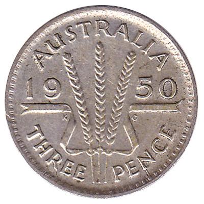 Australian threepence coin